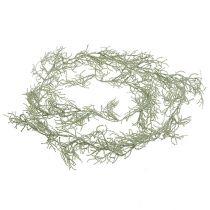 Silberkörbchengirlande Grün 170cm