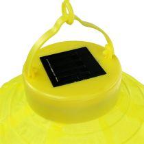 Lampion LED mit Solar 20cm Gelb