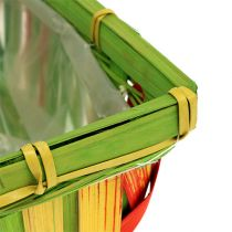 Spankorbsatz eckig mehrfarbig 12St 20cm x 11cm