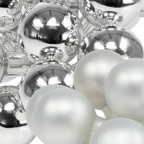 Spiegelbeeren 25mm Silber Mix 140St