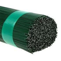 Steckdraht grün lackiert 0,7mm 300mm 2,5kg