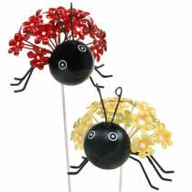 Gartenstecker Blume Marienkäfer Rot, Gelb Sortiert 2St
