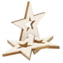 Stern zur Dekoration mit Glitzer 4cm 72St