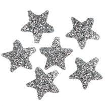 Stern Glitter 1,5cm zum Streuen Silber 144St