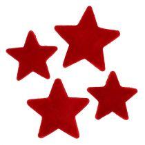 Stern Mix Rot beflockt 4-5cm 40St