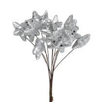 Stern mit Glitzer Silber 3,5cm 12St