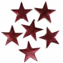 Deko Sterne Dunkelrot 4cm 12St