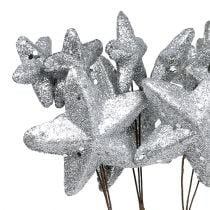 Sterne am Stab Silber 60cm 5St.