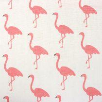 Dekostoff Flamingo Weiß-Pink 30cm x 3m