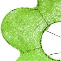 Sisal-Blumenstraußmanschette Grün Ø15cm 10St
