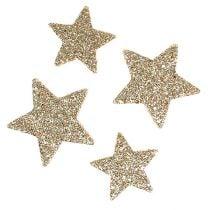 Streu-Sterne Hellgold Glimmer 4-5cm 40St
