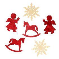 Streu-Sortiment weihnachtlich rot-weiß 4cm 72St