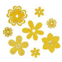 Streudeko Holzblume Gelb 2cm - 4cm 96St
