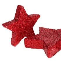 Streudeko Sterne Rot, Glimmer 4-5cm 40St