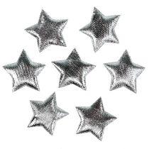 Streudeko Stoffsterne Silber 3cm 100St