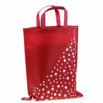 Tragetasche Rot mit Sternen 38cm x 46cm 24St