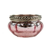 Teelichtglas Rosa Ø6cm H3,5cm