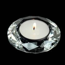 Teelichthalter Kerzenhalter Diamant Klar Ø7cm