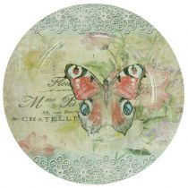 Deko Teller Vintage Schmetterling Ø32,5cm