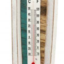 Thermometer in Holzboot-Form zum Hängen 46cm 1St