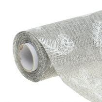 Tischband mit Tannenmotiv Grau 20cm 5m
