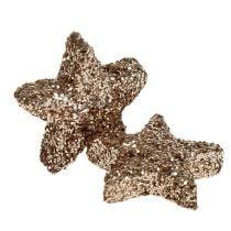 Tischdeko Stern Glimmer Champagner 1,5cm 144St
