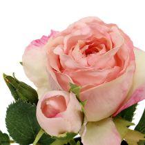 Tischdeko Rose im Topf Hellrosa 14cm