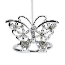 Tischkartenhalter Schmetterling 3,5cm Silber 6St