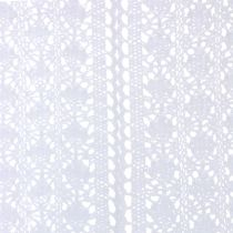 Tischläufer Häkelspitze Weiß 30cm x 140cm
