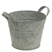 Topf Zink Ø16cm H13cm Grau gewaschen