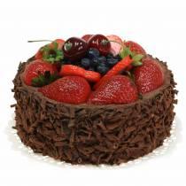 Schoko-Sahne-Torte künstlich Ø15cm H11,5cm