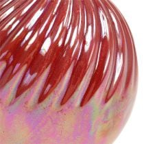 Vase, Mini Vase Perlmutt Rot Ø7,5cm H10cm 6St