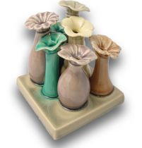 Keramikvase Flora 12x12cm Farbig
