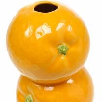 Vase Orangen Dekovase Keramik Sommerdeko Zitrusfrucht Blumenvase