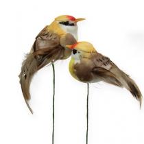 Bastelvögel am Draht 7cm 12St.