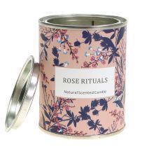 Duftkerze Rose in Blumendose Ø6,5cm