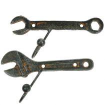 Wandhaken Werkzeug Dunkelbraun 14cm 2St