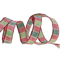 Weihnachtsband Dunkelrot 15mm 15m