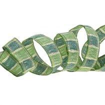 Weihnachtsband Grün 15mm 15m