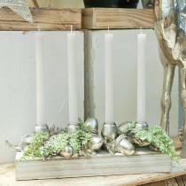 Weihnachtsdeko Kerzenständer für 4 Kerzen Eicheln 44cm