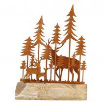 Weihnachtsdeko Wald Rost 26cm x 19cm