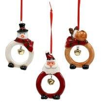 Weihnachtsfiguren 8cm - 10cm zum Hängen 3St.