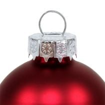 Weihnachtskugel Ø4cm Rot Glanz/Matt 24St
