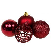 Weihnachtskugel Dunkelrot Ø6cm 16St