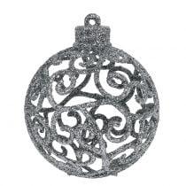Weihnachtskugel Silber Ø6cm 16St