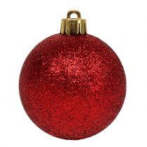 Weihnachtskugel Mix sortiert Rot Ø3,5cm - Ø5,5cm 30St