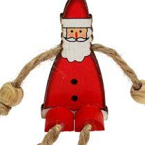 Weihnachtsmann Figur sitzend 6,5cm Rot 12St