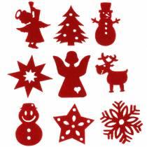 Weihnachtssortiment Filz Rot 72St