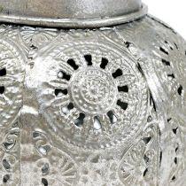 Windlicht zum Hängen Silber Ø12,5cm H10cm