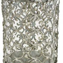 Windlicht Antik Silber Ø8cm H12cm